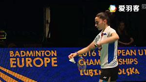 克里斯托弗森VS萨拉 2016欧洲U17锦标赛 女单决赛视频