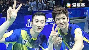李龙大/柳延星VS刘小龙/邱子瀚 2016亚锦赛  男双1/4决赛视频