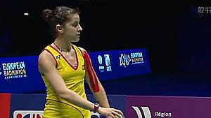 马琳VS吉尔莫 2016欧锦赛 女单决赛视频