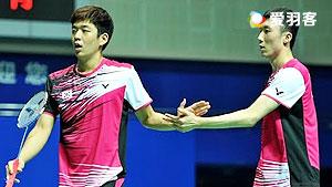李龙大/柳延星VS高成炫/申白喆 2016印尼公开赛 男双1/4决赛视频