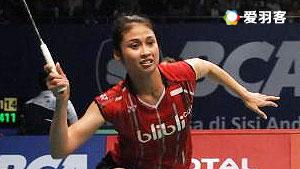 穆斯肯斯/皮克VS蒂亚拉/普拉蒂普塔 2016印尼公开赛 女双1/4决赛视频