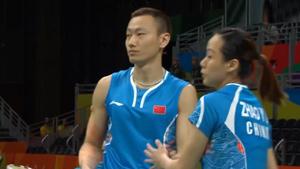 张楠/赵芸蕾VS福克斯/迈克斯 2016奥运会 混双小组赛视频