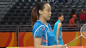 张楠/赵芸蕾VS周凯华/李晋熙 2016奥运会 混双小组赛视频