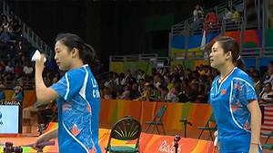 骆赢/骆羽VS佩蒂森/尤尔 2016奥运会 女双小组赛视频
