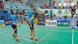 德雷明/伊万诺夫VS科维/加埃唐 2016欧洲俱乐部团体赛 男双半决赛视频