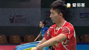 黄宇翔VS魏楠 2016印尼大师赛 男单半决赛视频