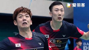 李龙大/柳延星VS黄凯祥/王懿律 2016韩国公开赛 男双半决赛视频