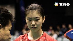 高昉洁VS蔡炎炎 2016全国团体锦标赛 女团小组赛视频
