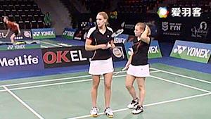 汉森/斯特芬森VS琳达/弗兰齐斯卡 2016丹麦公开赛 女双资格赛视频
