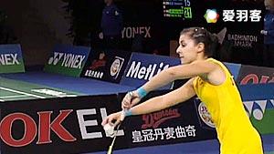 马琳VS朱莉 2016丹麦公开赛 女单1/16决赛视频