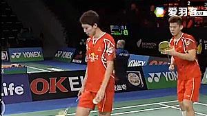 李俊慧/刘雨辰VS索伦森/安德斯 2016丹麦公开赛 男双1/8决赛视频