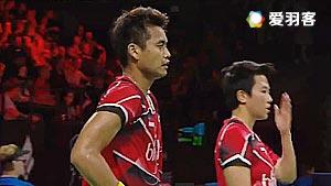 王懿律/黄东萍VS艾哈迈德/纳西尔 2016丹麦公开赛 混双1/8决赛视频