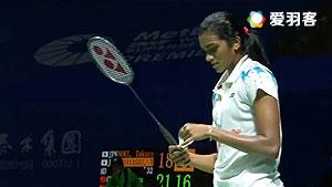 辛德胡VS川上纱惠奈 2017印度公开赛 女单1/8决赛视频