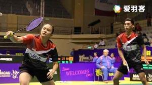 亚历山大/奥克塔维亚尼VS李洋/许雅晴 2016中国公开赛 混双1/16决赛视频