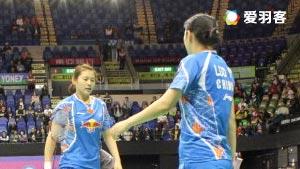 骆赢/骆羽VS吴咏瑢/袁倩瀅 2016香港公开赛 女双1/16决赛视频