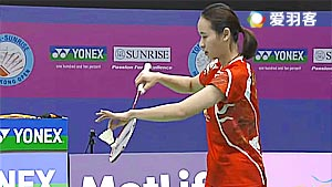 尤尔/佩蒂森VS包宜鑫/于小含 2016香港公开赛 女双半决赛视频
