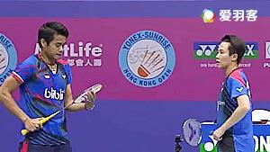 艾哈迈德/纳西尔VS邓俊文/谢影雪 2016香港公开赛 混双半决赛视频