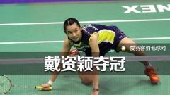 香港羽球赛丨戴资颖夺冠,荣登世界第一