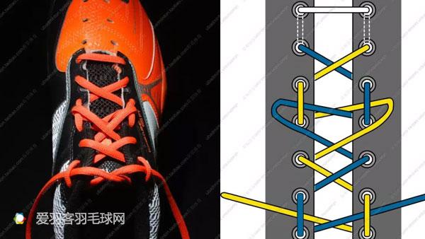 五,二逼青年鞋带:五角星绑法图片
