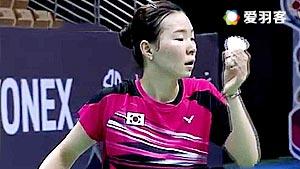 李蔷美VS峰步美 2016韩国大师赛 女单1/4决赛视频