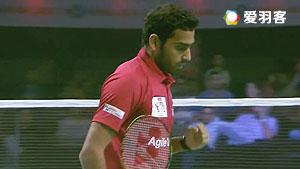 欧斯夫VS贾亚拉姆 2017印度超级联赛 混合团体小组赛视频