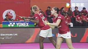 高成炫/瑞迪VS马琳/兰基雷迪 2017印度超级联赛 混合团体小组赛视频