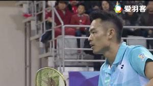 林丹VS周文龙 2017中国羽超联赛 混合团体小组赛视频
