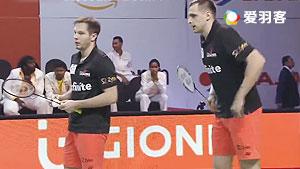 伊万诺夫/索松诺夫VS爱德考克/科丁 2017印度超级联赛 混合团体小组赛视频