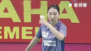 成池铉VS张雁宜 2017印度超级联赛 混合团体小组赛视频