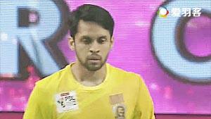 普拉诺VS卡什亚普 2017印度超级联赛 混合团体小组赛视频