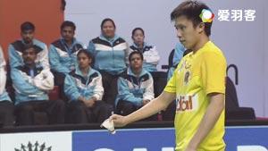 黄永棋VS坦农萨克 2017印度超级联赛 混合团体小组赛视频