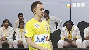 爱德考克/加布里VS博丁/沙旺特 2017印度超级联赛 混合团体小组赛视频