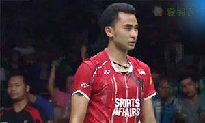 斯里坎特VS苏吉亚托 2017印度超级联赛 混合团体半决赛视频