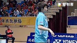 何冰娇VS朱聪琳 2017中国羽超联赛 混合团体小组赛视频