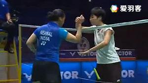 内维尔VS叶姵延 2017马来西亚大师赛 女单半决赛视频