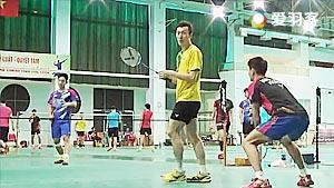 韩国队男双训练赛 柳延星轻松上阵