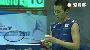 西本拳太VS石宇奇 2017亚洲混合团体赛 混合团体半决赛视频