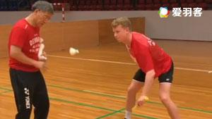 丹麦队平抽挡训练!安赛龙出镜有亮点