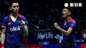 法加尔/阿德里安托VS普拉塔玛/赛普查 2017印尼羽毛球联赛 男团半决赛视频