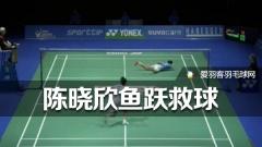 【GIF】陈晓欣鱼跃救球,精彩不输男选手!