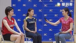 美女教练杜杜日本东京羽球之行