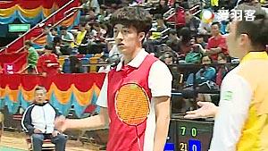 杨铭诺VS邓灏轩 2017全港运动会羽毛球赛 男团决赛视频