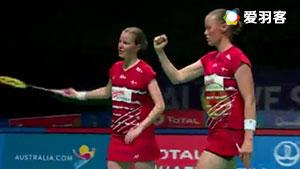 尤尔/佩蒂森VS波莉/拉哈尤 2017苏迪曼杯 混合团体小组赛视频
