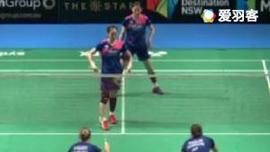 金慧麟/柳海媛VS迈肯/蒂格森 2017澳洲公开赛 女双1/16决赛视频