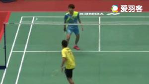 科希特VS宇胜勋 2017中国台北大师赛 男单1/8决赛视频