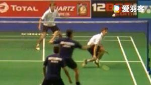 埃布摩/英晨科VS卢卡斯/凯文斯 2017羽毛球世锦赛 男双资格赛视频