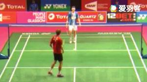 安东森VS罗斯 2017羽毛球世锦赛 男单资格赛视频