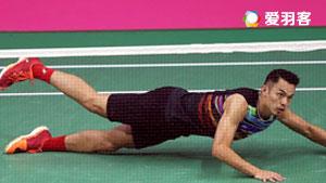 林丹VS霍尔斯特 2017羽毛球世锦赛 男单1/16决赛视频