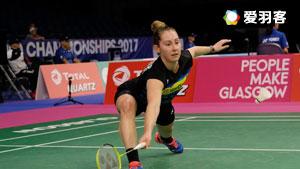 吉尔莫VS达斯 2017羽毛球世锦赛 女单1/16决赛视频