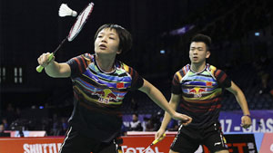 郑思维/陈清晨VS乔丹/苏珊托 2017羽毛球世锦赛 混双1/4决赛视频